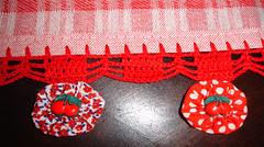 Pano de prato fuxico (rovena-artes) Tags: artesanato fuxico cozinha bordados bordado croche vagonite fuxicos panosdeprato enxoval panodeprato toalhademo oitinho barradodecroche