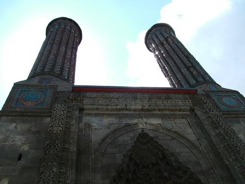 Erzurum - Cifte Minareli Medrese minerettes
