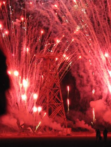 Oil Rig Fireworks