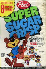 Sugar Bears record cereal box