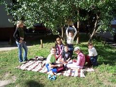 Joshua hosting a picnic