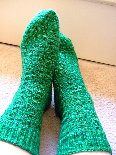 Finished Poseidon socks