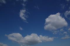 嘘みたいな青空と白い雲
