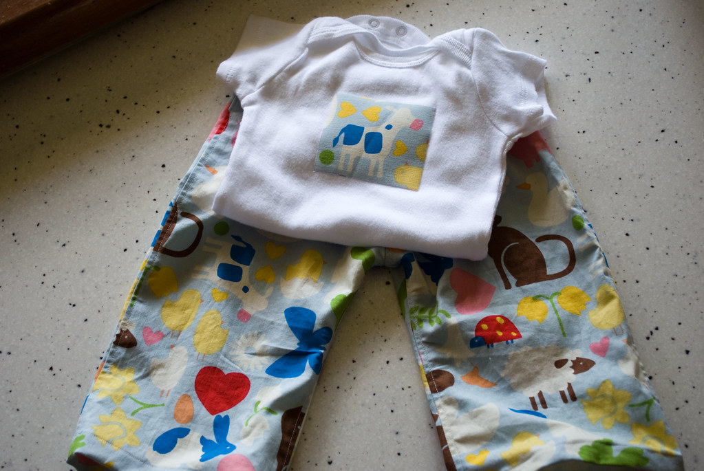 Gift Pants and Onesie