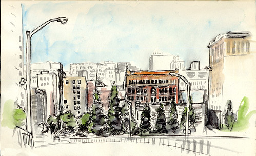 Worldwide SketchCrawl Day - Downtown Portland, OR