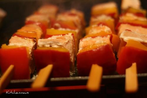salmon paprike spieß