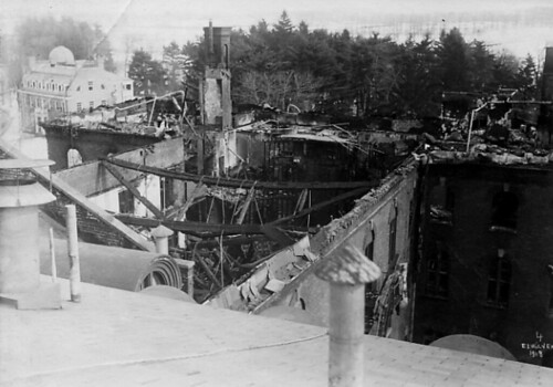 A view of the destruction