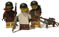 Winter Paratroopers (antha) Tags: winter lego wwii american paratrooper brickarms