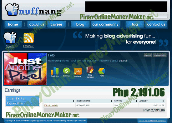 Nuffnang Payment Proof - September 2010 - PinayOnlineMoneyMaker.net