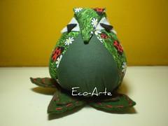 Corujão (eco-arte) Tags: botão owl fuxico coruja retalho gufo reutilização reaproveitamento corujinha floresdefuxico