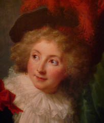 Vigée Le Brun's Madame Perregaux with detail of face