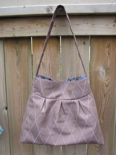 Purple Pleated Bag