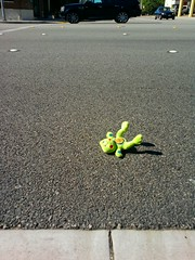 101103-Frogger.jpg (melissssaf) Tags: california street car toy lost la losangeles los angeles things frog frogger