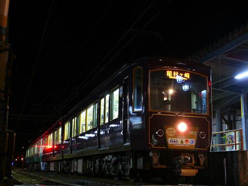 江ノ電21F+502F稲村ヶ崎行き最終電車@長谷
