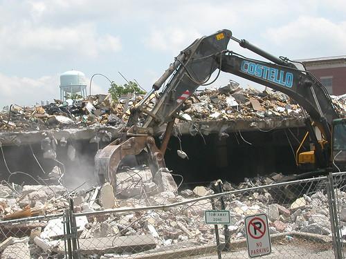 demolishing the bookstore