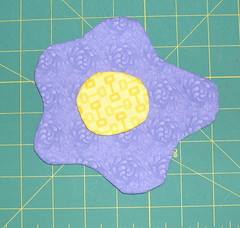 Flower and Center Appliqués ready to use
