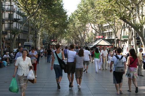 Passeggiando per le ramblas di Barcellona.