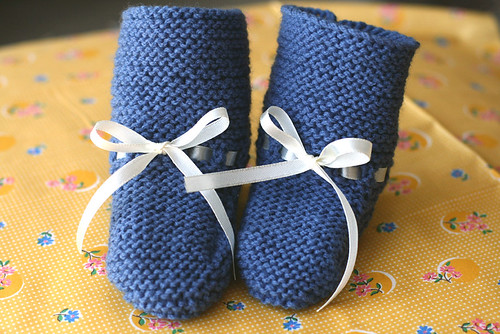 baby sung knitted bootie