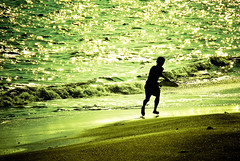 Surfer (manganite) Tags: sunset sea summer people sun hot reflection men green beach nature topf25 water colors silhouette sport japan strand digital geotagged asian japanese coast xpro nikon colorful asia afternoon seasons tl surfer candid kamakura young playa guys surfing surfboard  onecolor nippon d200 nikkor dslr kanagawa nihon kanto surfin yuigahama thecolorgreen 18200mmf3556 monochromia utatafeature manganite nikonstunninggallery 25faves geo:lat=3530324 geo:lon=13952247 date:year=2006 date:month=september date:day=2 format:ratio=32