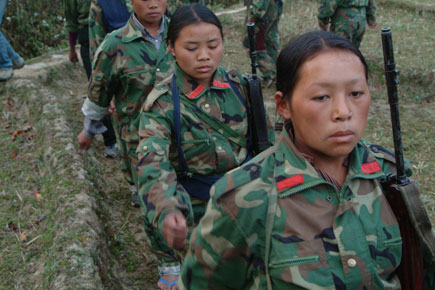 Liberation army, Female members of the Maoist rebel groups 118 Battalion, People's Liberation Army, in remote hills in east Nepal by Kashish Das Shrestha