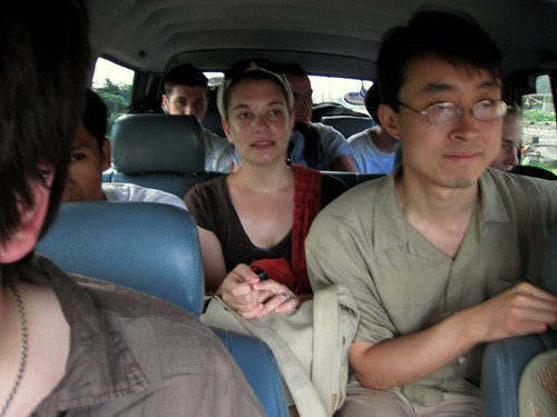 9 people in a small SUV