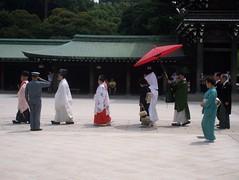 Wedding Party at Meiji Shrine