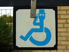 Sir Handicap (Harpo42) Tags: sign glasses theater mason wheelchair nj tophat jersey handicap auditorium shriner collingswood scottishrite