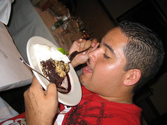 Rogelio's birthday dinner and dessert