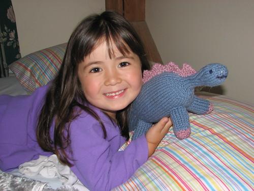 Dova loves her dinosaur
