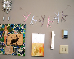 garland (Katey Nicosia) Tags: inspiration art wall studio calendar garland cuckoo antler streamer
