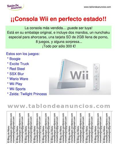 Vendo Wii... o no :D