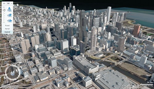 シカゴの3Dマップ
