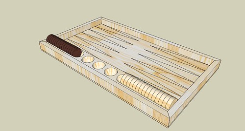 Refined counter tray for Backgammon board