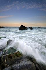 Atardecer en Playa Bonita - Benalmdena, Mlaga (Jose Carlos Osuna) Tags: sunset sea sky azul atardecer mar nikon rocks waves sigma wave andalucia cielo lee nubes olas malaga rocas ola d300 10mm filtros sigma1020 nikond300 075hard