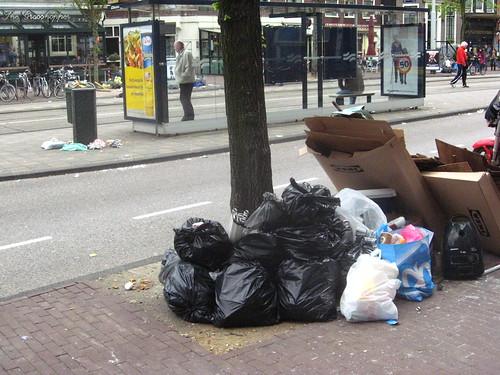 Greve dos lixeiros e garis em Amsterdam