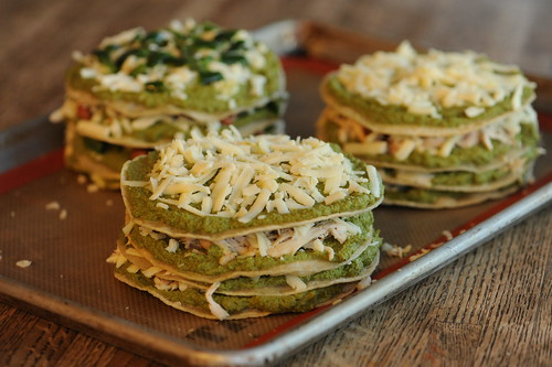 Stacked Green Chile and Chicken Enchiladas – made here with Pumpkin ...