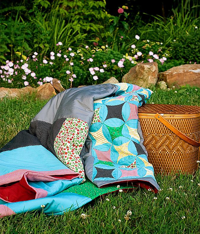 picnic blanket finished for blog