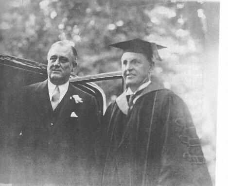 Presidents Roosevelt and MacCracken at Vassar