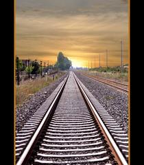 It's a long long way to the light.... (Dimart gr) Tags: light sunset lines train nikon railway greece d90 ysplix dimart
