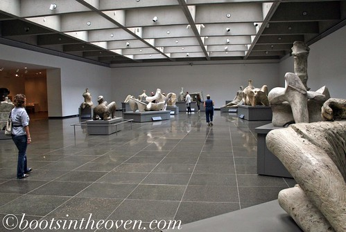 Lots of Henry Moore, with natural light