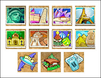 free Global Traveler slot game symbols