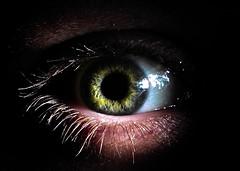 eye captain (jmtosses) Tags: portrait selfportrait black macro eye dark grid diy publicblog straws