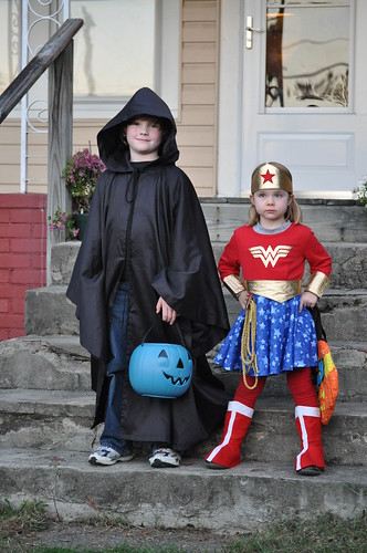 The Grim Reaper and Wonder Woman