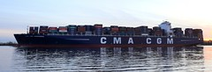 CMA CGM Andromeda (MEK40 (Fotodesign M. Heimann)) Tags: november autumn panorama color detail nature water colors clouds canon germany landscape photography eos photo wasser waves ship foto pano details ships hamburg natur wolken container andromeda 500 landschaft farbe schiff wedel cgm elbe schiffe farben 2010 cma 500d schulau eos500d
