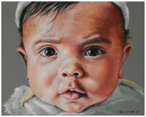 Colored pencil portrait entitled Zen