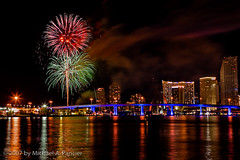 A Miami Fourth of July Celebration - 2007 - 03 (Michael Pancier Photography) Tags: usa skyline florida fireworks miami fourthofjuly july4 independenceday soe 2007 fineartphotography naturephotography seor lrps watsonisland naturephotographer floridaphotographer michaelpancierphotography excellenceinfireworksandpyrotechnics wwwmichaelpancierphotographycom seorcohiba