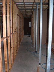 Internal Wall Frame to Half of Hallway