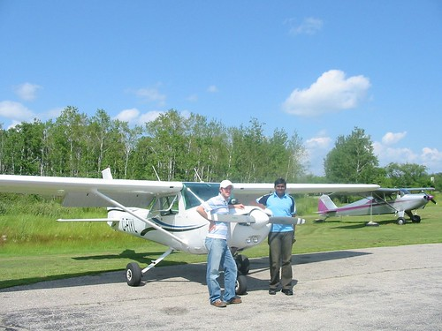 Me, with Chris Carter and my fav. airplane C-FIYL