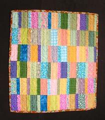 jelly beans complete (losabia) Tags: quilt bright pastel tan solids calico prints jellybeans funquilts modernquiltworkshop plainspoken dollquiltswap dqs2 cmqg