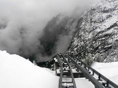Minifunicular Parc d'Attractions du Châtelard (wimbledonian) Tags: snow train switzerland du parc barrage funicular emosson dattractions châtelard